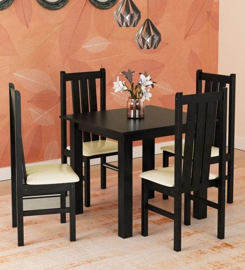 Yung 4 Seater Dining Set in Cappuccino Finish by Mintwud